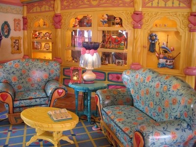 Sitting area in Minnie Mouse's house - Disney World