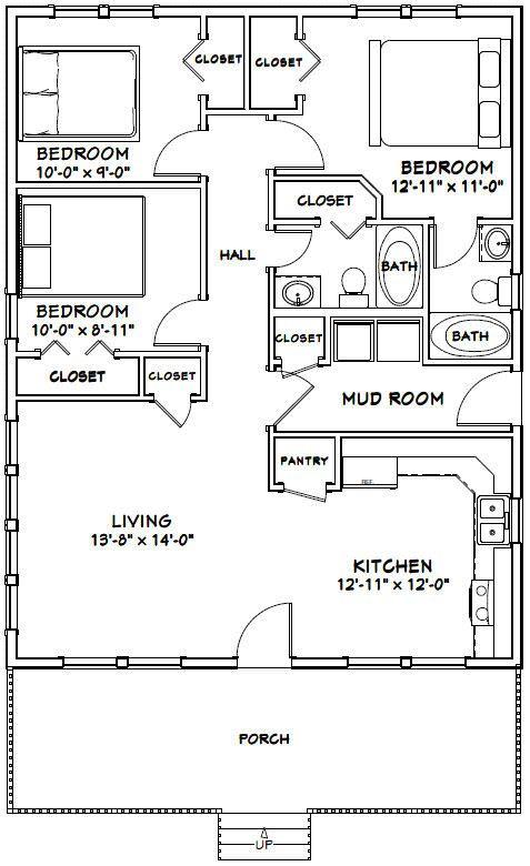 28×36 House — #28X36H3A — 1,008 sq ft – Excellen…