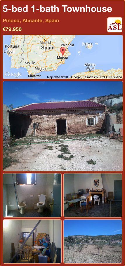 5-bed 1-bath Townhouse in Pinoso, Alicante, Spain ►€79,950 #PropertyForSaleInSpain
