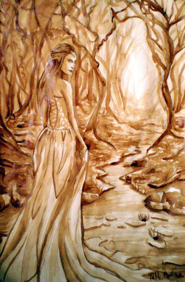 Coffee Painting Nature Basic Arte Inspire