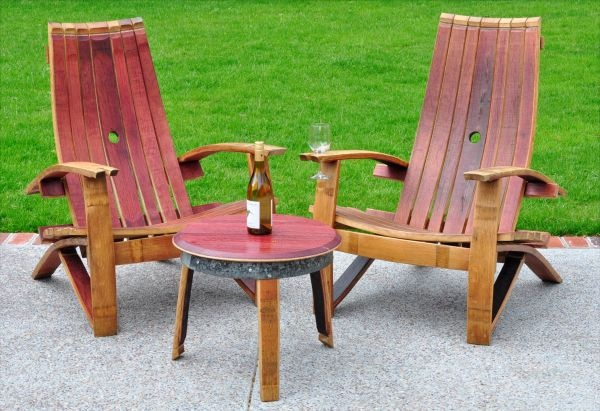 Wine Barrel Adirondack Chair Wine Barrel Pinterest