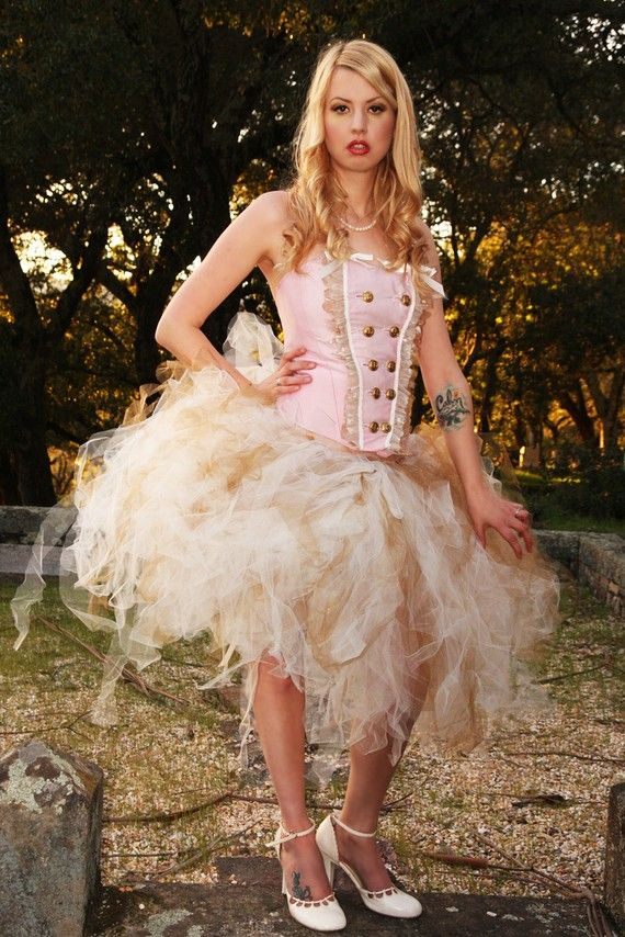 Steampunk Lolita Tutu MADE TO ORDER by lokisromance on Etsy, $55.00