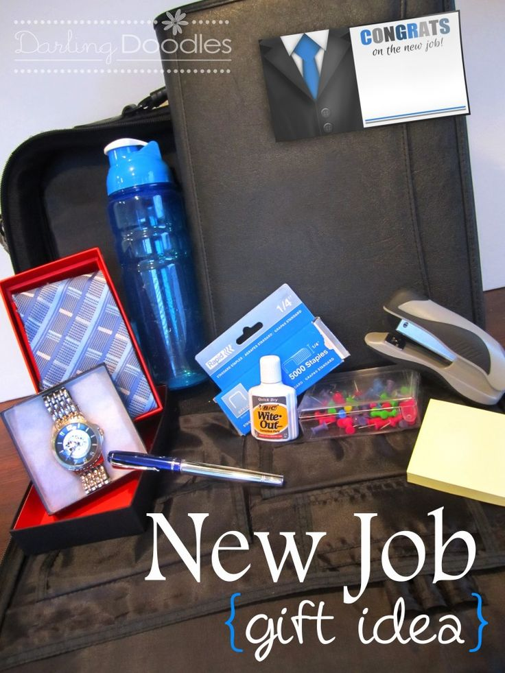 Desk accessories,New computer bag,Planner,Watch,tie or scarf, water bottle, monogrammed notepad,Fancy pen, headache relief, energy bars, picture frame, business card holder! Mints, gum, lint roller and hand sanitizer