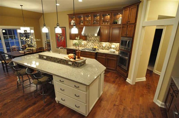 Kitchen Island with raised center House