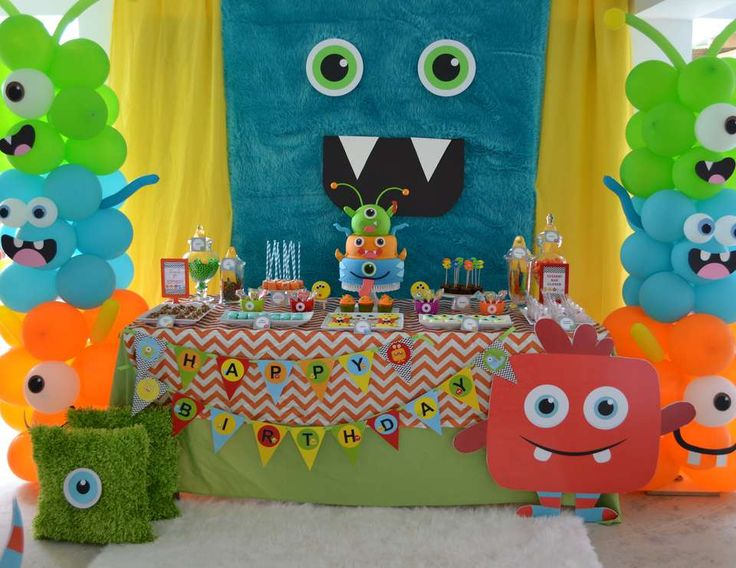 """Monsters / Birthday """"{Little Monster Birthday Bash}"""" 
