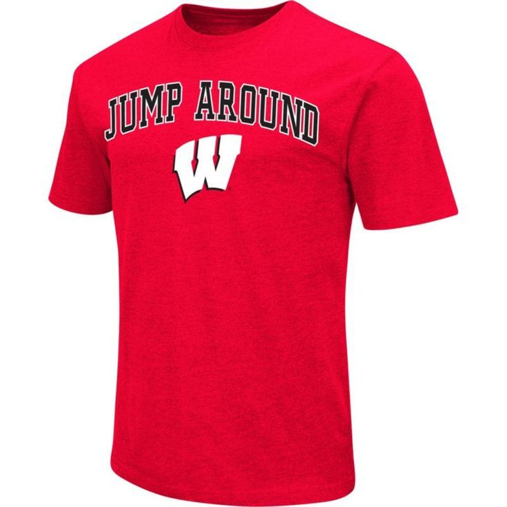 Colosseum Athletics Men's Wisconsin Badgers Red Team Slogan T-Shirt