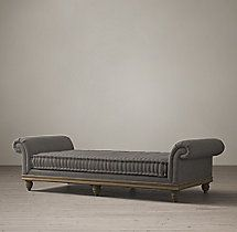 victorian roll arm upholstered daybed
