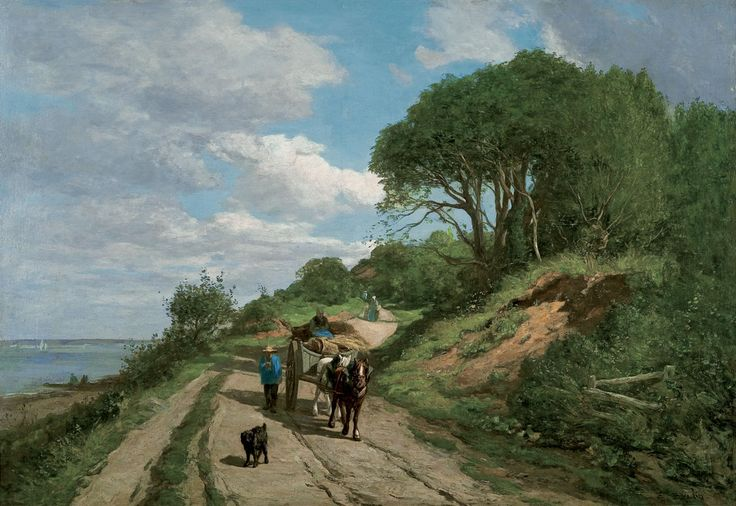 Eugène BOUDIN (1824-1898), The Trouville Road (Near Le Butin), Honfleur, ca. 1855-1860, oil on canvas, 57 x 83 cm. © Honfleur, musée Eugène Boudin