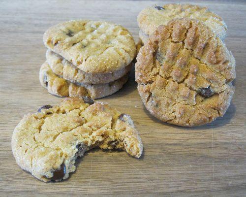 Superlekkere chocolate chip cookies, speciaal voor pindakaas liefhebbers.