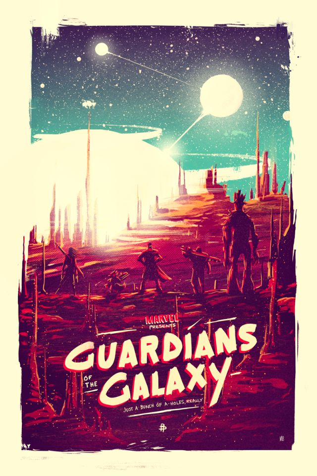 Guardians of the Galaxy by Marie Bergeron for Poster Posse Project #9