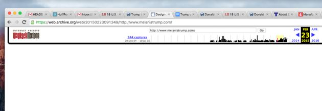 Melania Trump's Website, Biography Have Disappeared From The Internet