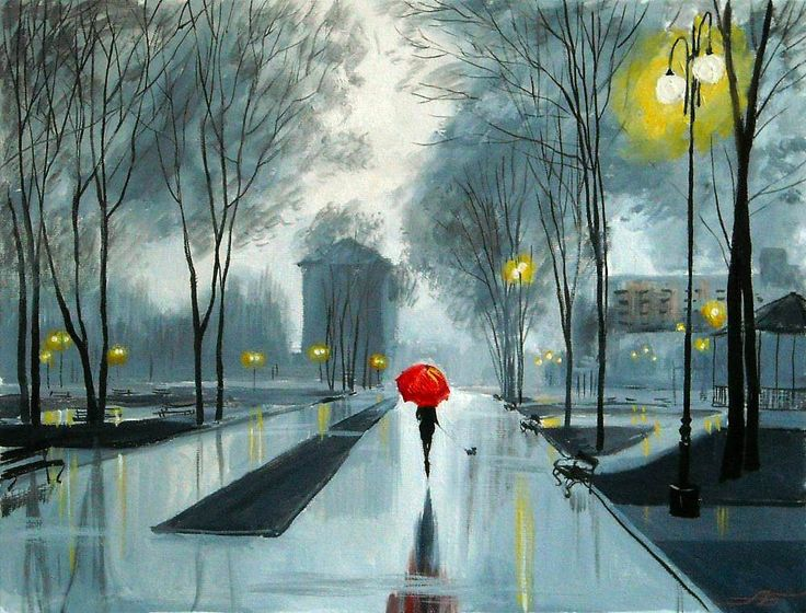 A. Bolotov. The Red Umbrella / Krasnyi Zontik