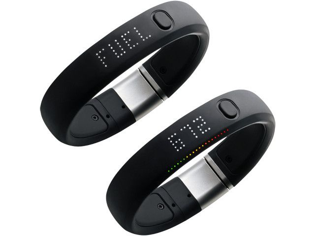 Nike FuelBand activity monitoring wristband.  The pedometer has come a looong way!  This thing is cool! #gadget
