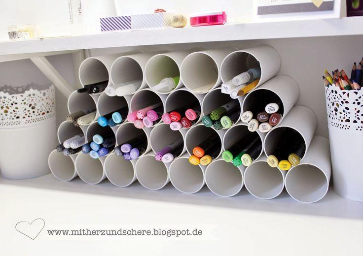 Eine wirklich gute Idee für Stifte und Co – auf, über den Schreibti