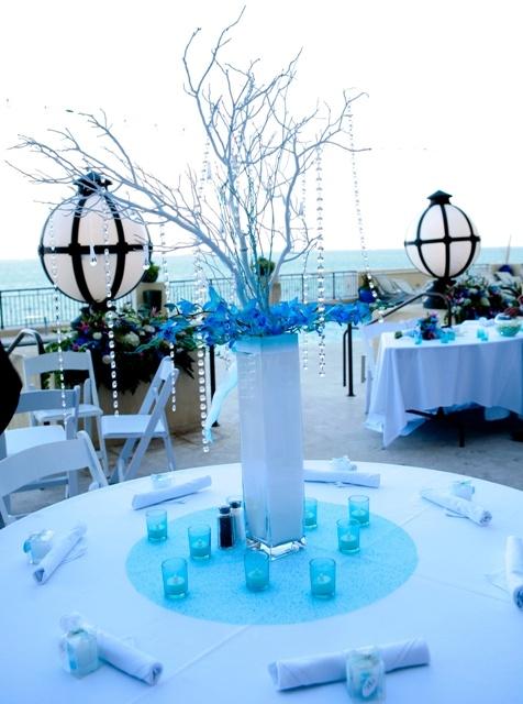 Custom Crystal Manzanita Wedding Trees and Decor :  wedding crystal wedding trees custom decor flower girl reception decor tea lights wedding favors Olivia Erik 0411