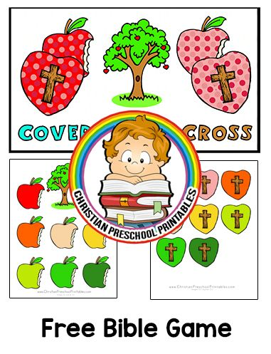 Download Game Here How to Play: This is a printable game that corresponds with your Adam and Eve Bible lessons. Children cover the bitten apples with hearts of the same pattern. This set includes single color hearts and patterned hearts. Laminate for durability. Expansion Resources: Adam & Eve Bible Printables Days of CreationBooks & Games …