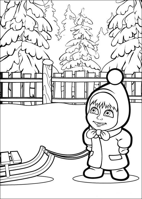 Masha Y El Oso 14 Dibujos Faciles Para Dibujar Para Ninos Colorear Masha Y El Oso Paginas Para Colorear Paginas Para Colorear Disney