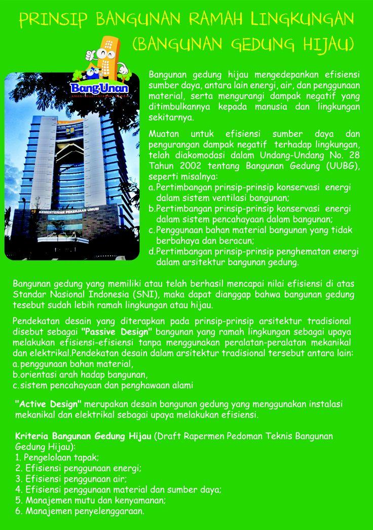 Prinsip Bangunan Ramah Lingkungan (Bangunan Gedung Hijau)