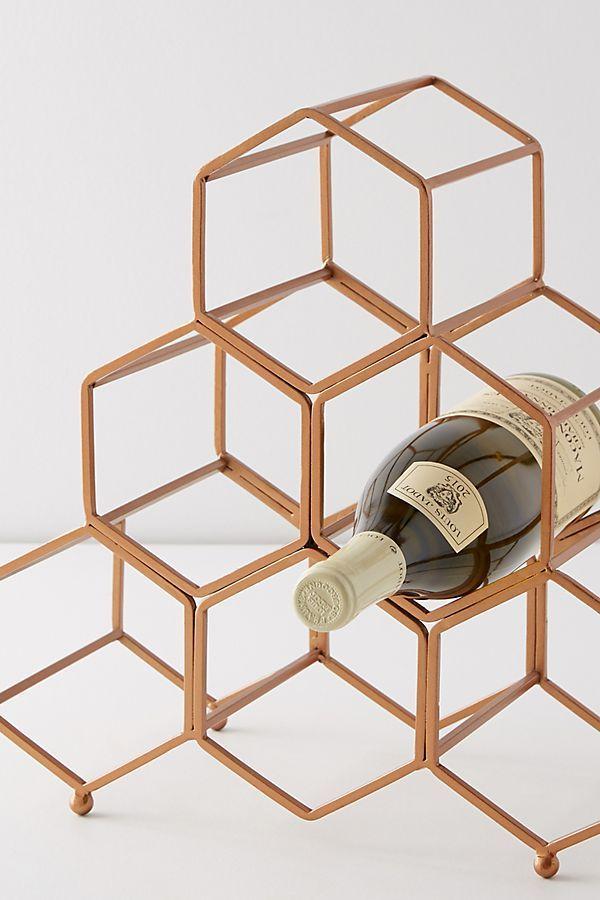 Slide View: 2: Honeycomb Wine Rack