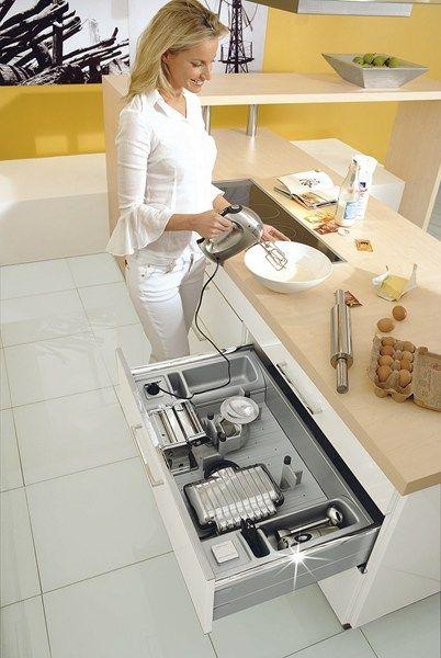 Keuken: stopcontact in de schuif -- Ergonomie in de keuken - Okay