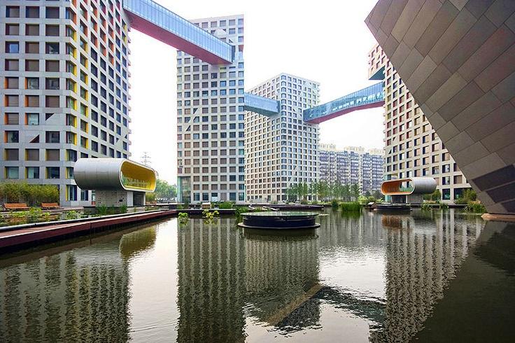 Linked Hybrid Building in Beijing designed by Steven Holl