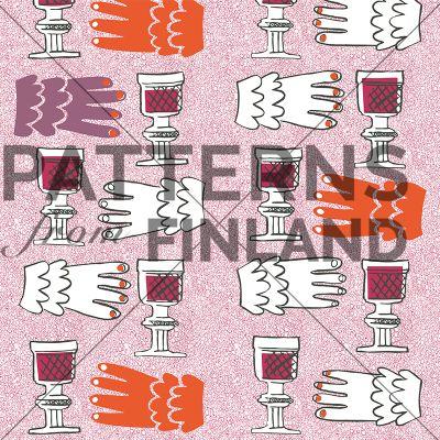 Linnoissa kreivien by Maria Tolvanen  #patternsfromagency #patternsfromfinland #pattern #patterndesign #surfacedesign #printdesign #mariatolvanen