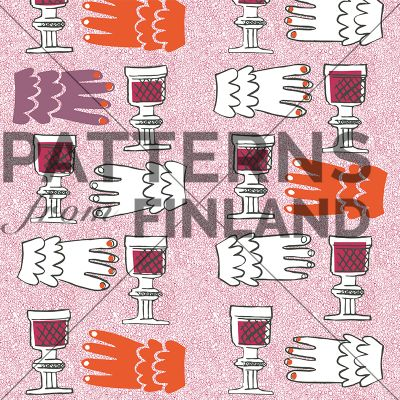 Linnoissa kreivien by Maria Tolvanen  #patternsfromagency #patternsfromfinland #pattern #patterndesign #surfacedesign #mariatolvanen