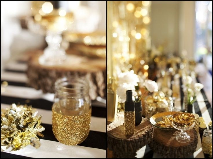 Classic Black White And Gold Wedding Favor Ideas Google