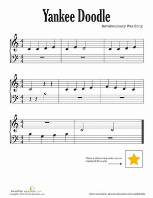 73 Best Images About Piano First Pieces On Pinterest Yankee Doodle Coloring Page 2