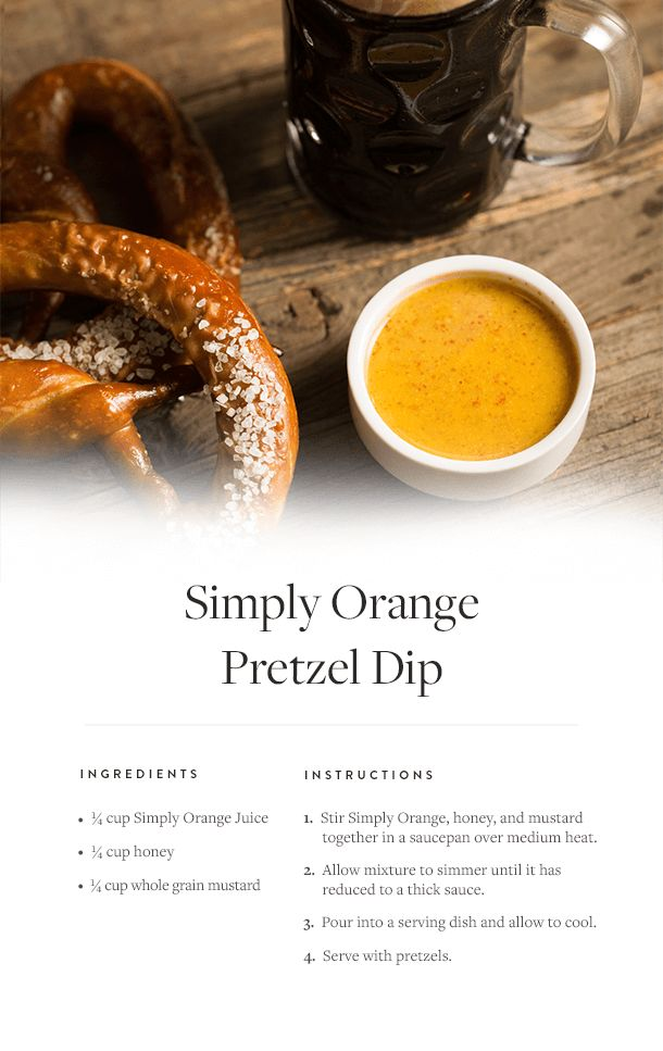 Simply Orange Pretzel Dip: a tangy, easy party snack to whip up in a flash.