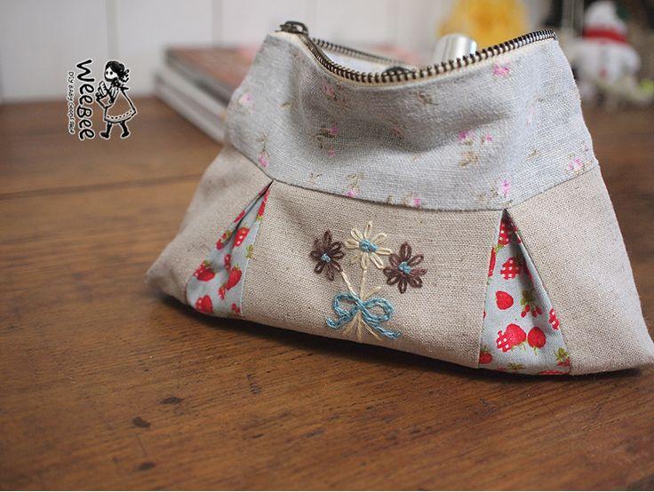 Cremalleras. Las arrugas hacen bolsa de toma de accesorios hechos a mano .DIY [Wibi]: Blog de Naver