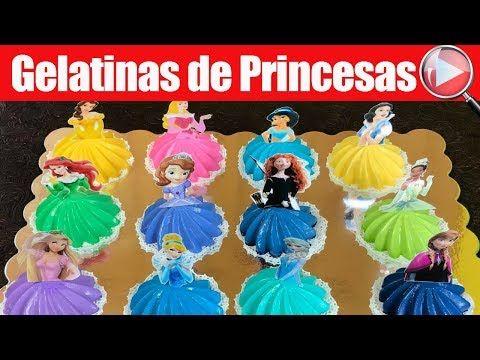Gelatinas de Princesas Disney Individuales - Recetas en Casayfamiliatv - YouTube