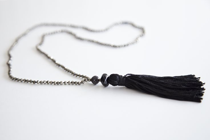 Rosary from Iron Pyrite, one stone Black Onyx and a sphere of Spinel stones- Price:110 €