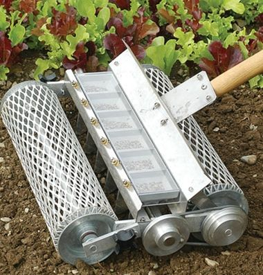 6-row seeder $579 - this could be a seriously useful timesaving implement for a market garden