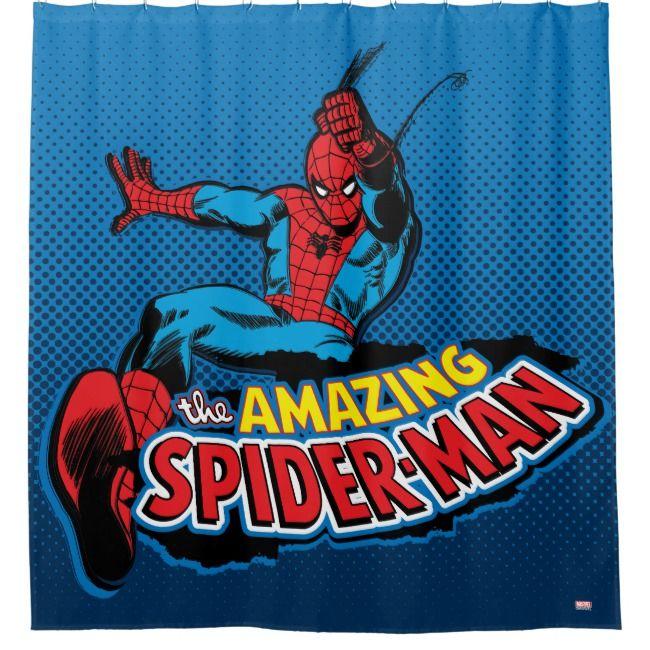 The Amazing Spider Man Logo Shower Curtain Zazzle Com Amazing