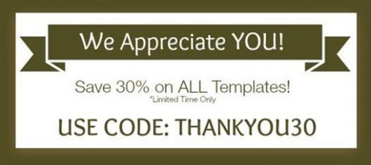 Customer Appreciation Week at PixelPointCreative #save 30% on all templates! get a chance to win a FREE STARTER #MEMBERSHIP