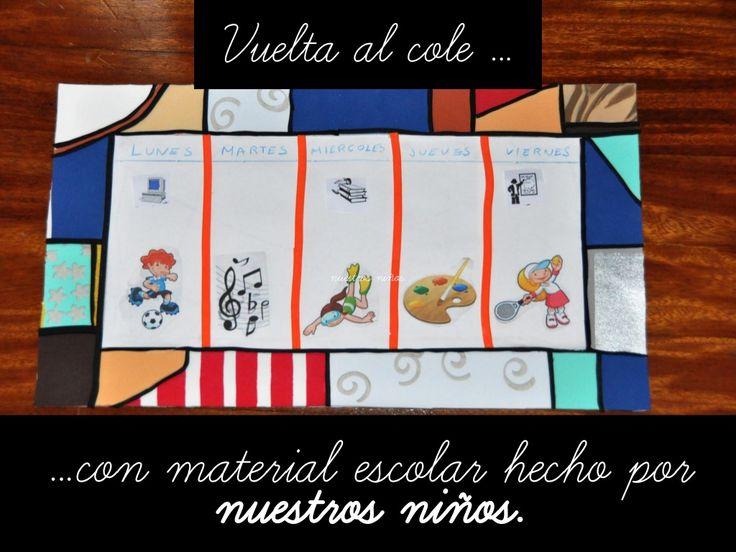 Vuelta al cole con material escolar hecho por nuestros niños by Caridad Yáñez Barrio via slideshare