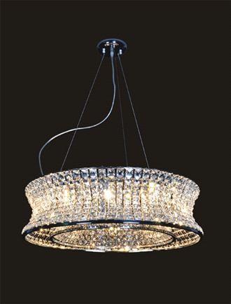 10-light 20 crystal Chandelier polished chrome modern crystal light MD1121-12A (MD1125-10) - China Modern Luxury Crystal lamp, Designer