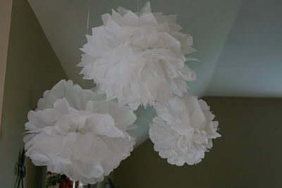 Shine Your Light: Tissue Paper Pom Poms for First Communion party