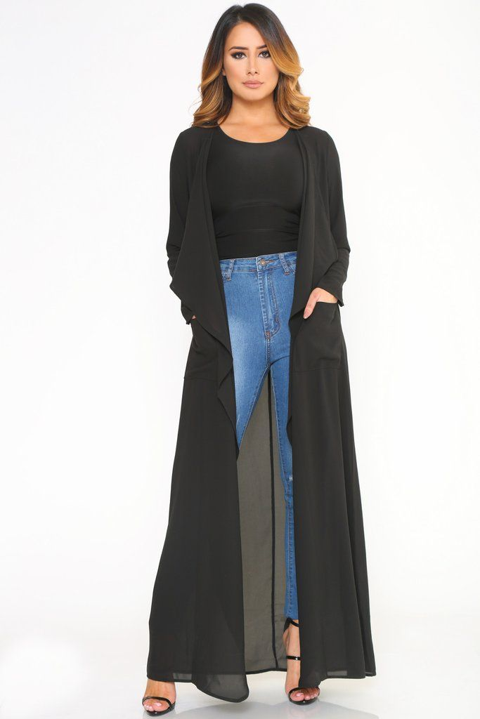 Want a long jacket like this in nude, dark green or black