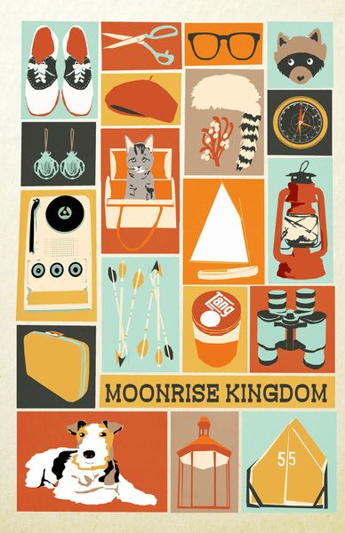 Moonrise Kingdom Art Print by Andrea Lauren. This is so cool!