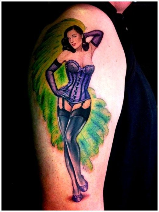 139 best images about pinup girl tattoos on pinterest zombie tattoos pin up and tattoo girls - Tattooed pin up models ...