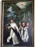 Jan Soens ( Bois - le - Duc,1553 - Parma a Cremona 1611/14- San Giainto attravrrsa la Vistola a tre contra telli; camminando sopra la propria cappa. Św. Jacek przepływa Wisłę na kapie.