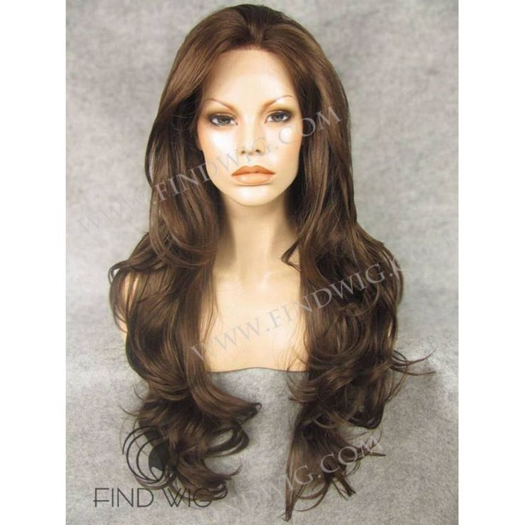 Lace Front Wig. Wavy Brown Chestnut Long Wig. Buy Wigs Online