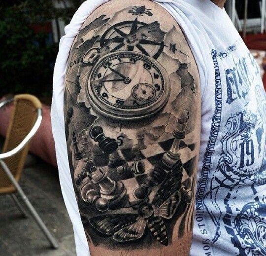 Compass tattoo and chess tattoo   Tattoomagz.com › Tattoo Designs / Ink-Works Gallery › Tattoo Designs / Ink Works / Body Arts Gallery