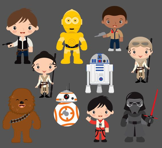 STAR WARS Clipart Printable Instant download PNG by VivisPartyShop