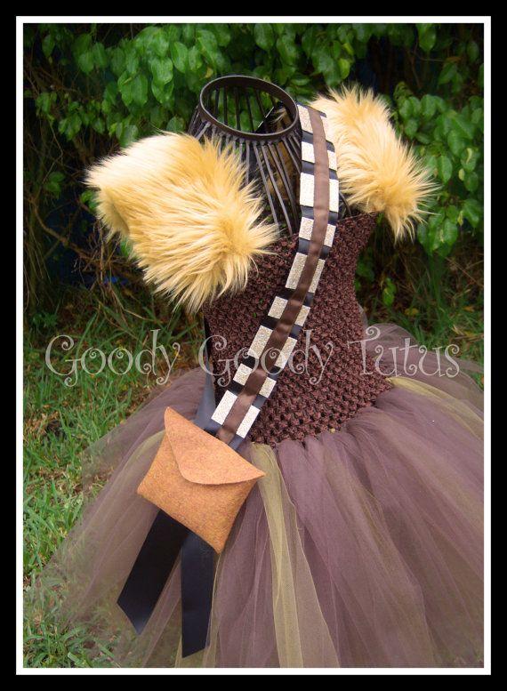 CHEWEY'S TUTU Chewbacca Inspired Tutu Dress by goodygoodytutus