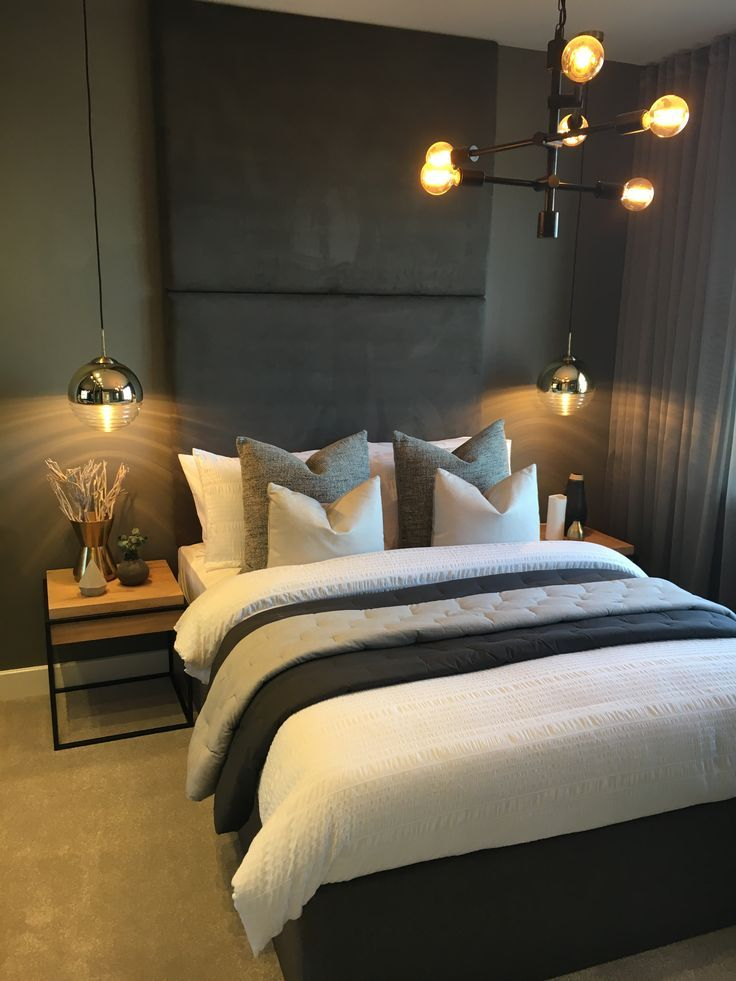 Dark Rich Tones Are Used In The Venice Third Bedroom To Create A Moody Boutique Look The Fl Stylish Bedroom Design Bedroom Interior Pendant Lighting Bedroom