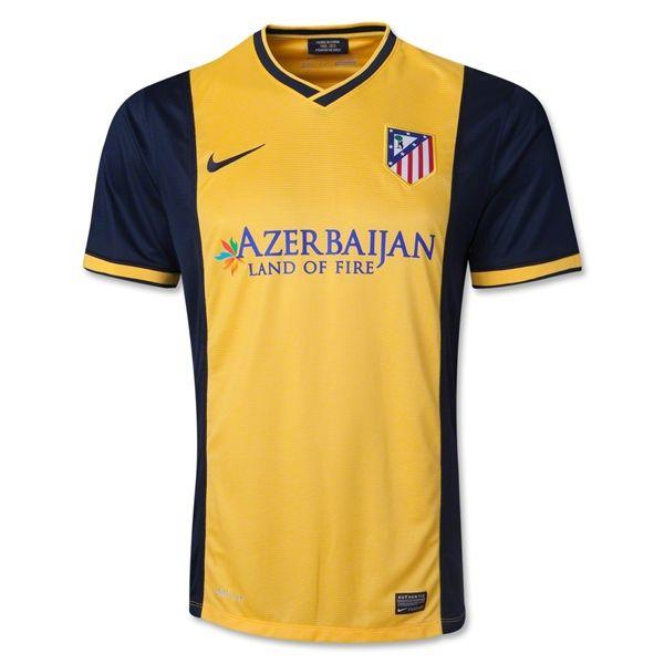 Camiseta del Atletico de Madrid Lejos 2013-2014 para más de 50 € ahorro 5% http://www.camisetasdefutbolbaratasdhl.es/camiseta-del-atletico-de-madrid-lejos-20132014-p-88.html
