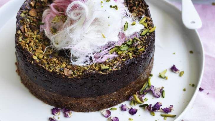 Valentine's night-in: Adam Liaw's chocolate love cake.